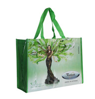 recycled reusable give away promotional tote beach pp non woven thank you shopping bags