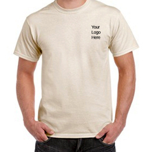 100% organic cotton plain blank big size crew neck t shirt for men