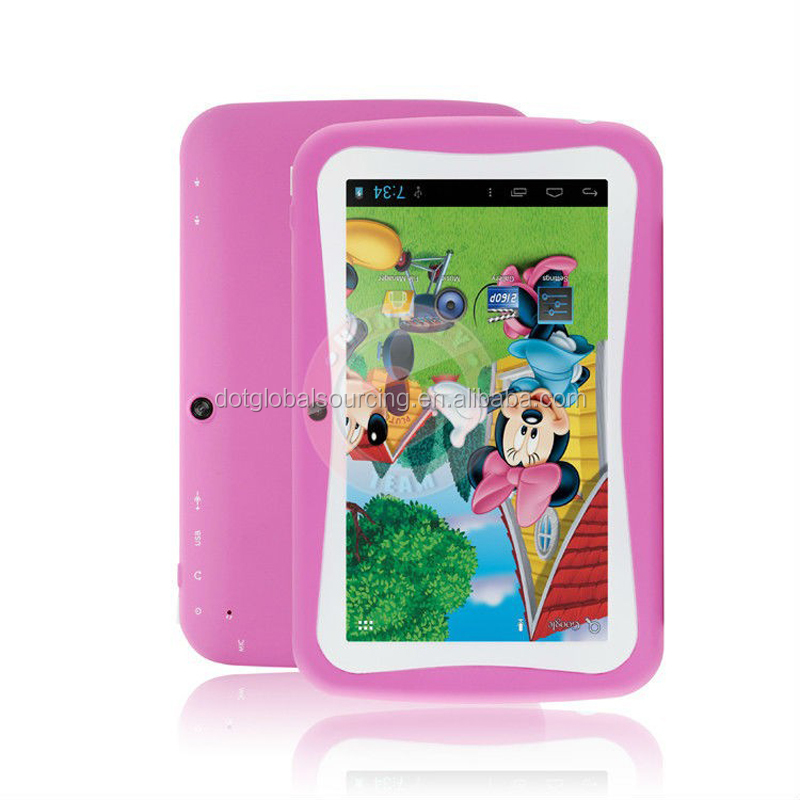 Factory Promotion! Hot Selling 7 inch Children Tablet Kids Tablet Android 4.4.2 Good Quality Tablet PC