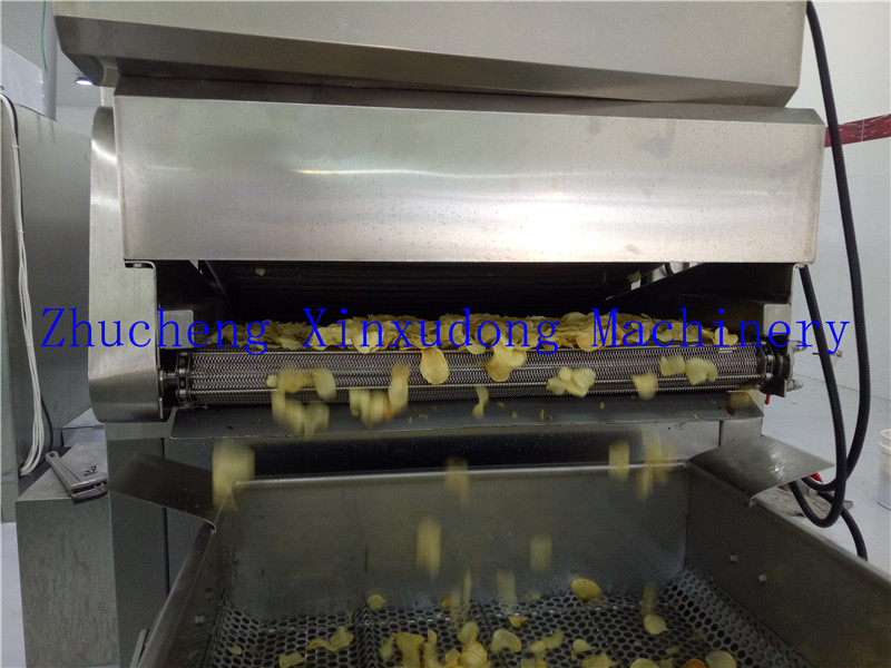 XXD fully automatic potato chips making machine/potato chips machinery/potato chips production line