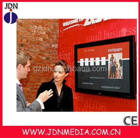 wall mounted LED interactive digital advertising display in shopping center/bank/commercial building