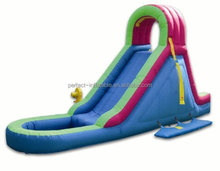 Good quality Indoor small inflatable water slide with a small pool