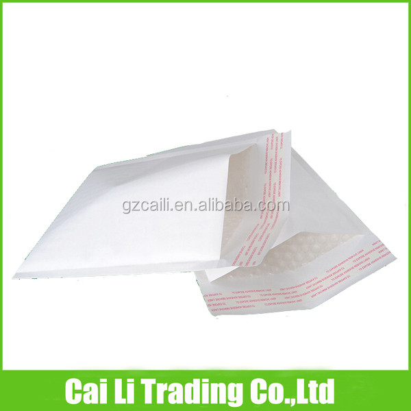 self-adhesive white paper air bubble mailing bags