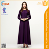 Zakiyyah 10011 Hot Sale Kain Chiffon Baju Kurung Pure Color Murah Borong Baju Kurung Botton Open Front Muslim Dress