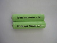 Nimh battery aaa 500mah 1.2v ni-mh rechargeable battery