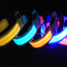 LED electric flashing glowing light up pet dog cat collars leashes for night safety