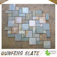 natural landscaping stone brick floor rectangle slate tile