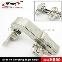Furniture adjustable degree right angle hinge