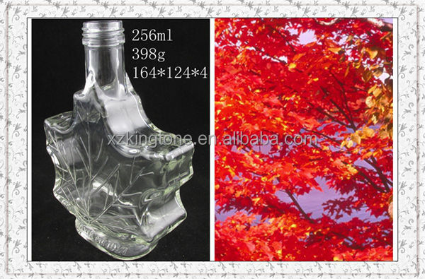 shaped glass bottle/syrup glass bottle/drinking bottle