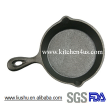 2015 hot selling mini cast iron fry pan
