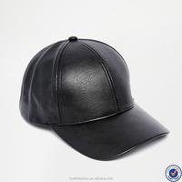 chinese supplier custom hat for men adjustable back strap faux leather hat