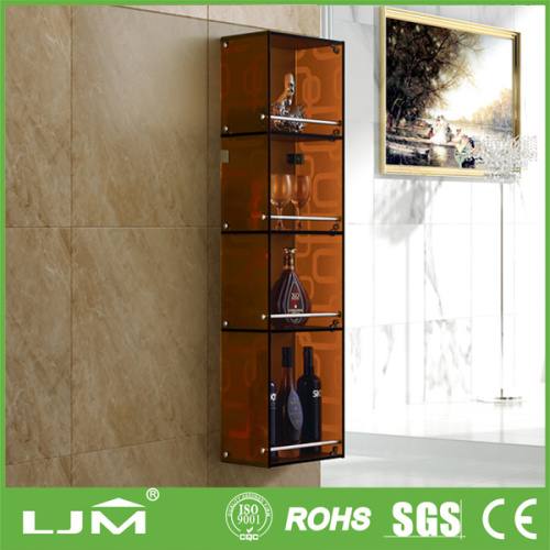 Wall-hung moisture-resistant modern glass display case parts