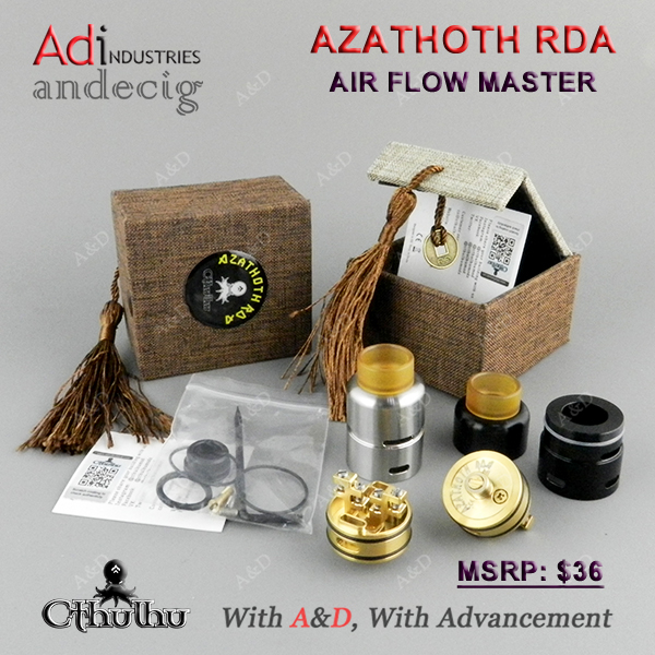 Cthulhu AZATHOTH RDA VAPOIRZER FOR LOST VAPE Therion DNA75C BOX MOD