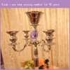 K7399-2 Fancy good quality wedding crystal candle holder for decoration