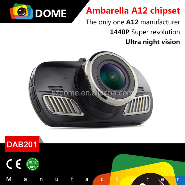 Blackview FullHD 1440P vehicle driving recorder/car digital video recorder DVR with GPS