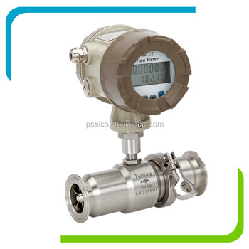 Food Grade Turbine Vegetable Oil Molasses Milk Beer Flow Meter, Juice 316L Stainless Steel Sanitary Flow Meter