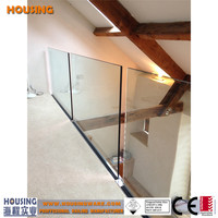 children safe glass banisters designs with aluminium C channel