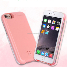 photography fill-in light up rechargeable power bank led selfie cell phone case for iphone 6 / 6s / 6Plus / 7 / 7Plus