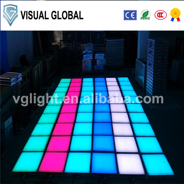 2017 wholesale wedding light up cheap portable dance floor led lights