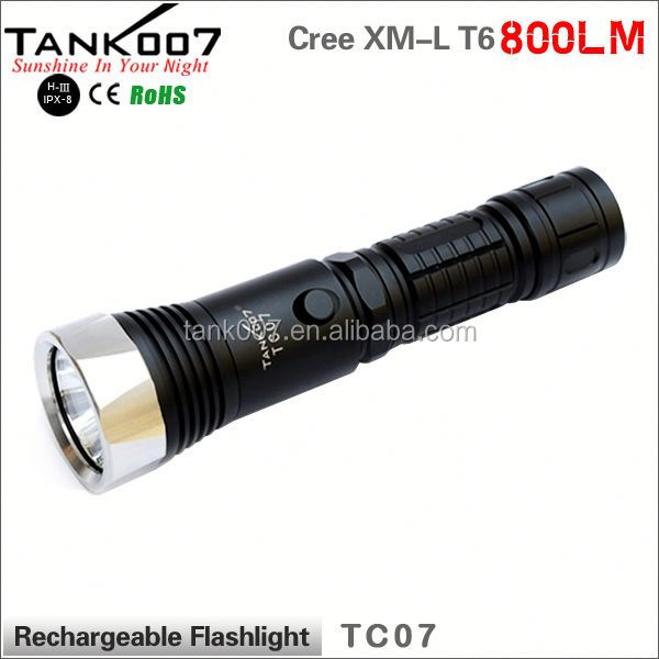 shenzhen factory XML2 <strong>U2</strong> 18650 1000lumens LED torch led TANK007 TC07 a2689