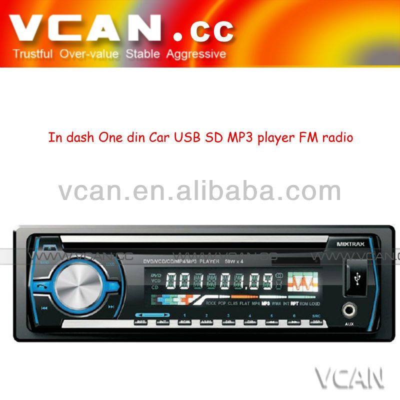 Detachable front panel Single-Din car mp3/mp4 player
