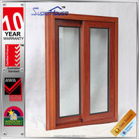 New Designed wood grain curved sliding window with 10-year guarantee