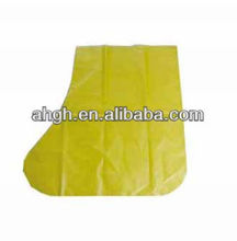 House keeping disposable yellow LDPE boot covers, PE overshoes