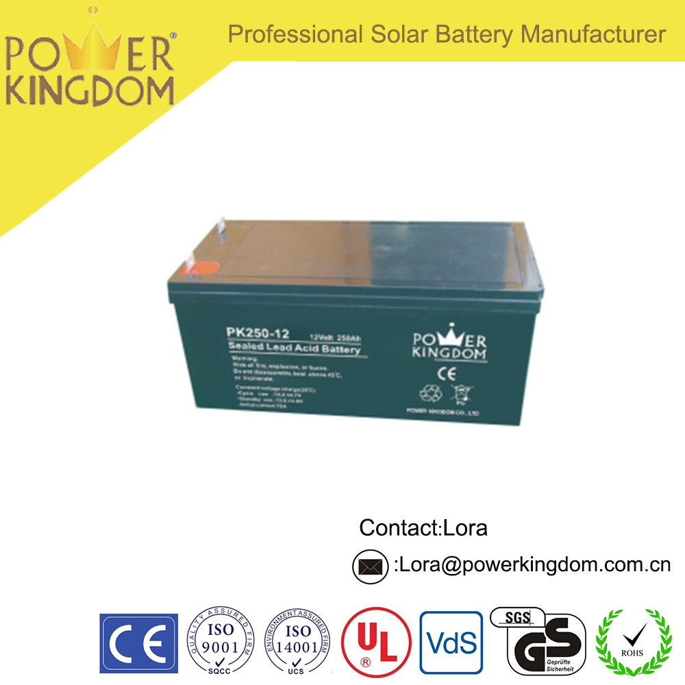 Competitive Price 12V 250Ah Sealed Valve Regulated Gel Battery for Solar Panel Storage