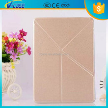 Multifunction V style kickstand leather case for 6 inch tablet pc