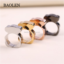 Cheap China Factory Xijiao Building Wholesale Store 316l Stainless Steel Jewelry Men Women Ring Cute Bear Animal Ring