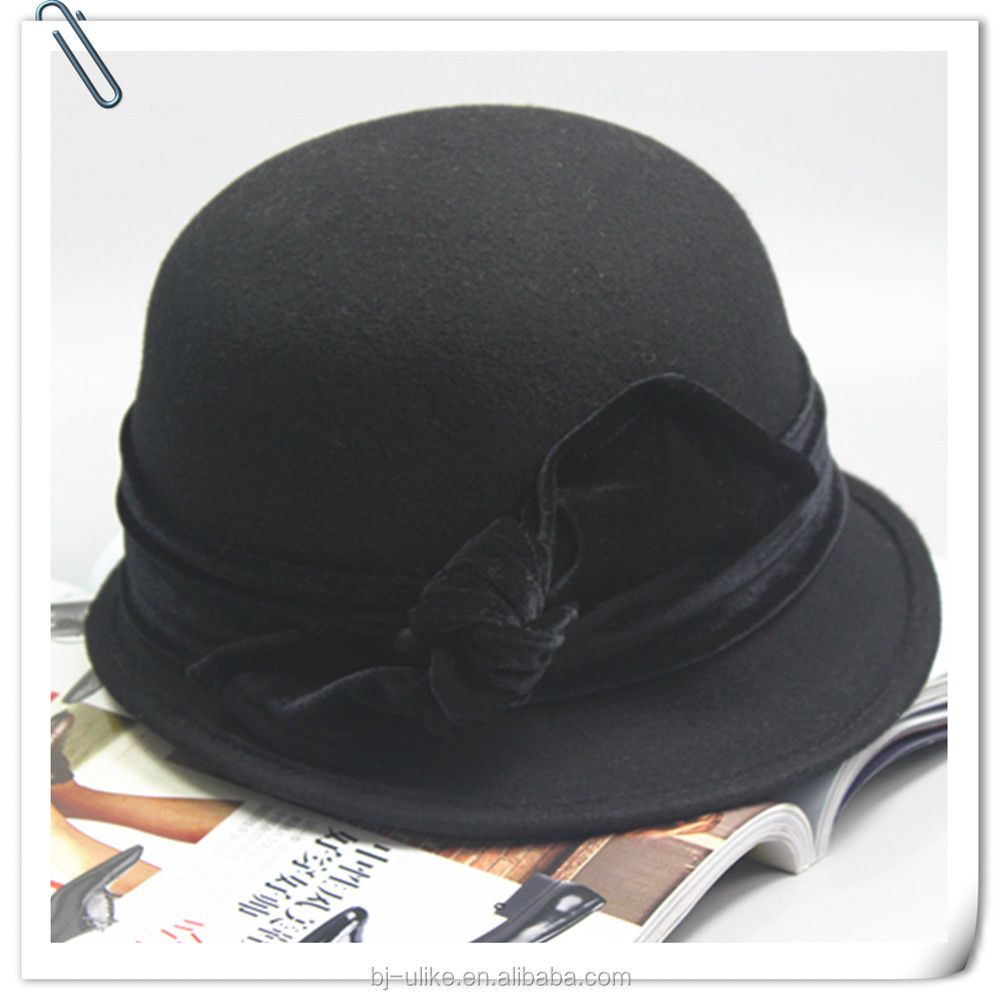 Fashion wool felt fedora hat for Ladies and women winter Men's hats and caps