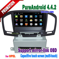 Capacitive screen 3g/wifi bluetooth mirror-link +hotspot+dvd/gps/mp3/TVfor opel Insignia android 4.4 radio