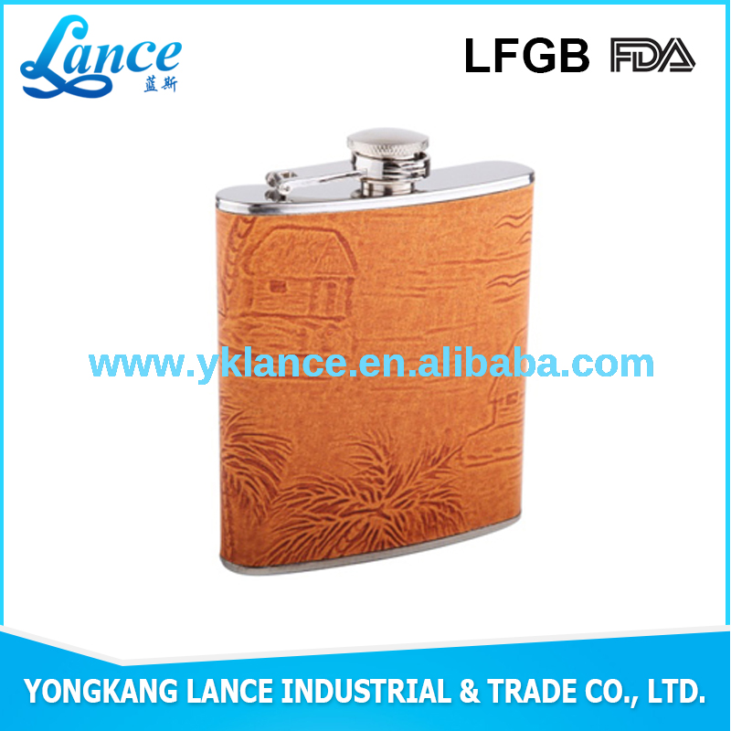 Wholesale factory provide 3 bottle wooden wine box hip flask with custom shape