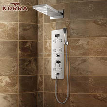 Bathroom Fittings stainless steel shower panel Bath Shower Taps Water Shower Mixer Taps