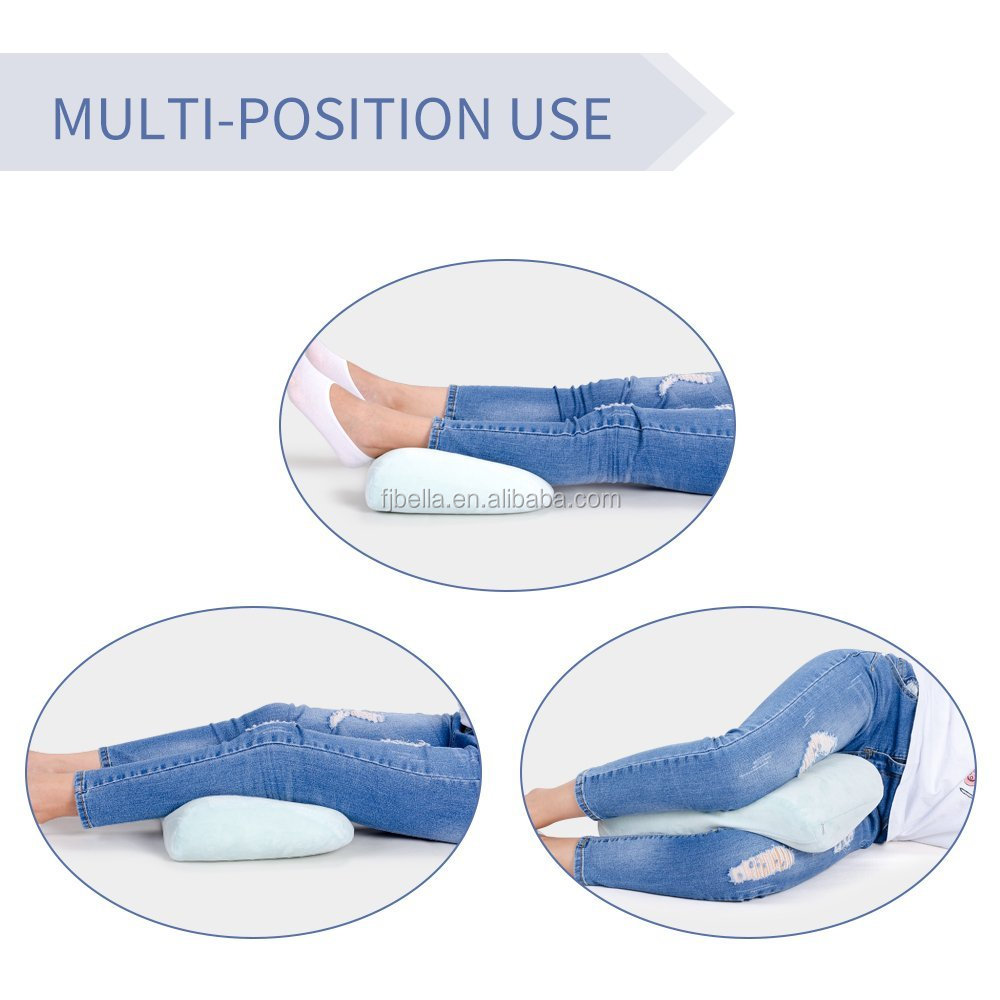 Multifunctional Memory Foam Knee Pillow for Sciatica Relief, Back Pain, Leg Pain, Hip, Pregnancy and Side Sleepers, Leg pillows