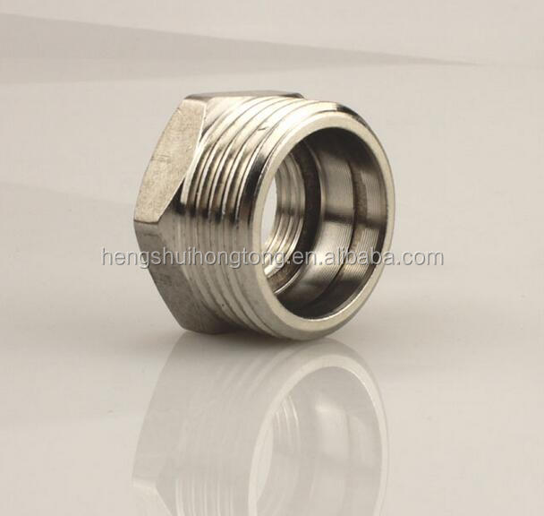 SA182 F316L Stainless Steel Pipe Fittings Female&Male Hexagonal Joint Coupling