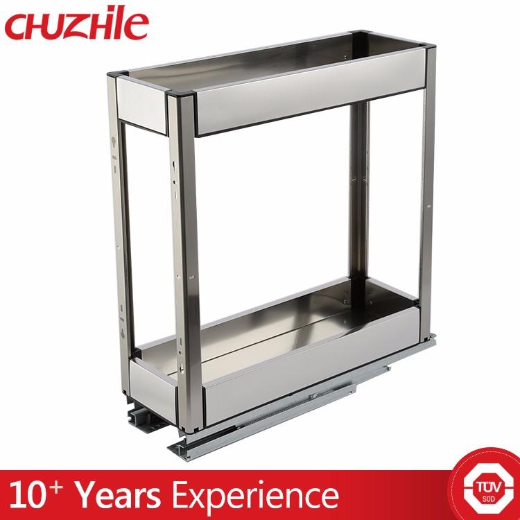 Kitchen metal wire storage cabinet basket buy storage for Bathroom cabinets 200mm wide