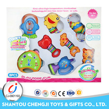 Hot popular bell toy 8pcs musical rattle set for baby