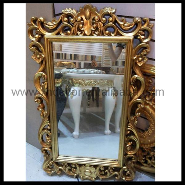 Estilo neocl sico tallada rectangular espejo con dise o for Espejo rectangular plateado
