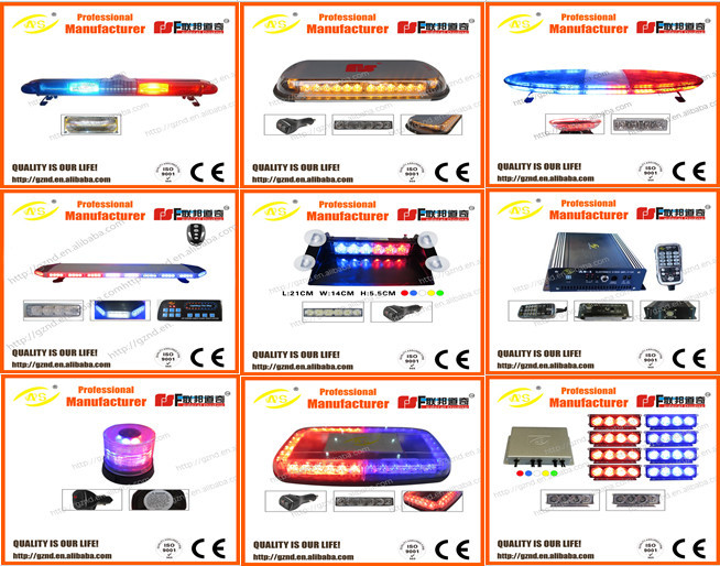Ultra Thin Red and Blue LED Light Bar/ Security strobe lights bar for Vehicel cars /1.2M exterior emergency car lightbar