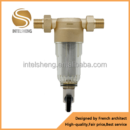 copper water prefilter/pre filter/ filters/ prefilters with self-cleaning function /SS304 net