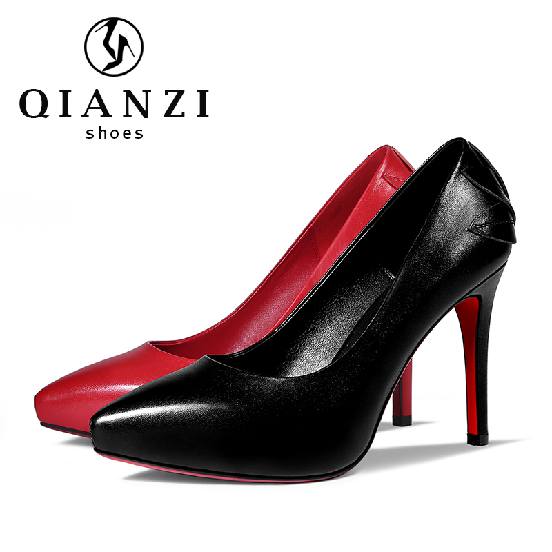 5438 new product 2017 red and black high heels and pumps sale