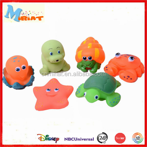 Soft vinyl rubber fish floating baby bath toys
