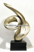 small modern art Stainless steel metal sculpture for home and office OEM/ODM