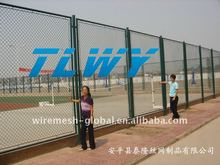 pvc coated chain link sports fence