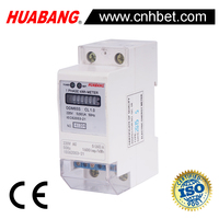 2 modular Single Phase DIN-Rail electricity Meter