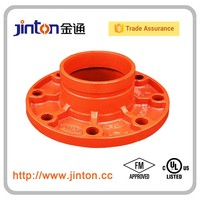 FM UL Approved Grooved Pipe Fittings Adaptor Flange ANSI Class 150