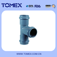 pvc pipe fitting pvc rubber ring joint tee fitting