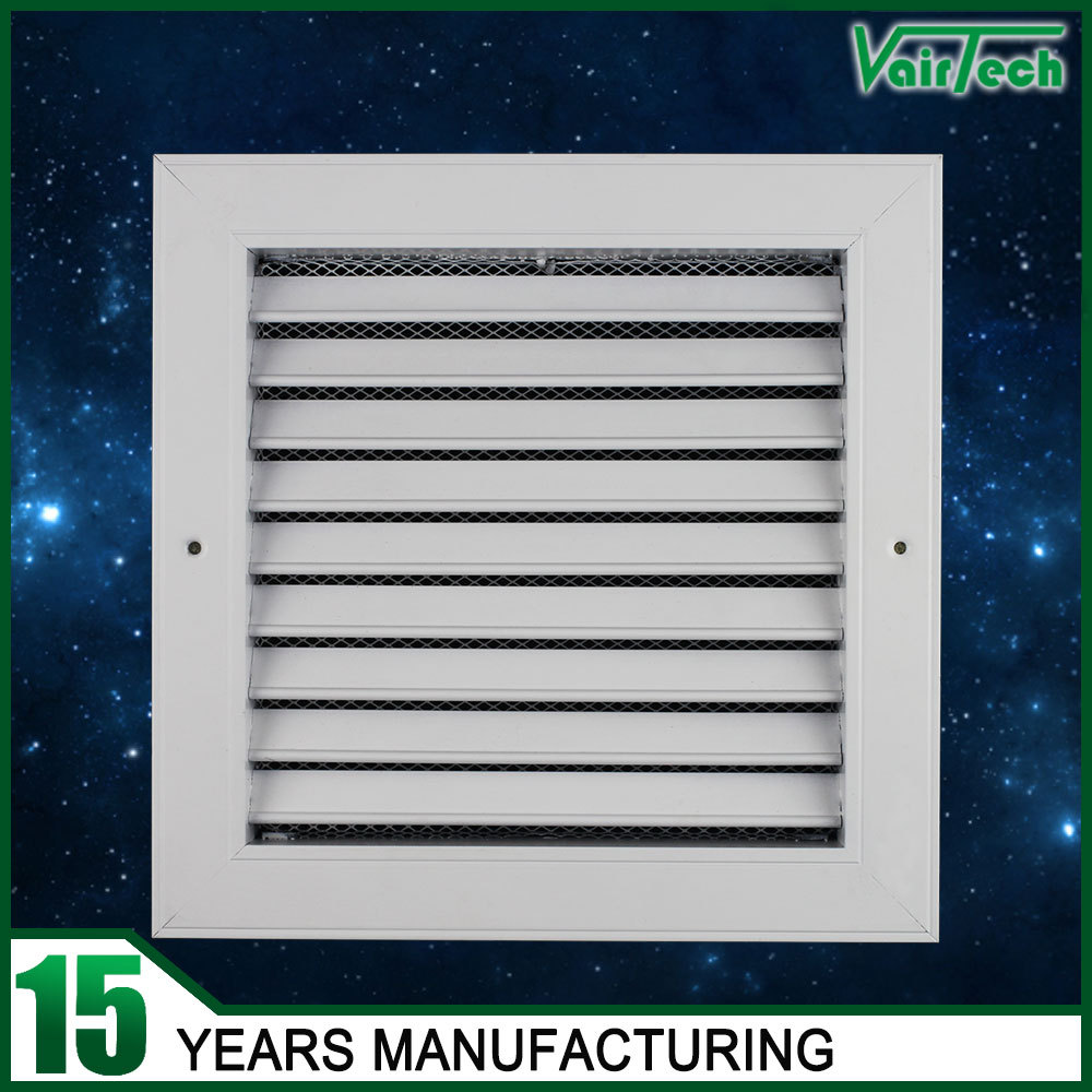 HVAC system air ventilation diffuser with air filter aluminum window louver return air grille