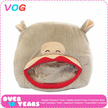 High quality oem size colorful lovely plush animal bear shaped hand warmer for winter